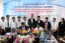 Netherlands funds wastewater treatment system in Ninh Thuan