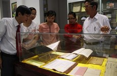 Books on Hue culture and history exhibited