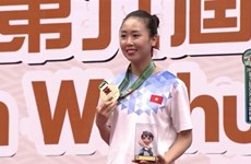 Tran Thi Khanh Ly wins Asian wushu gold medal