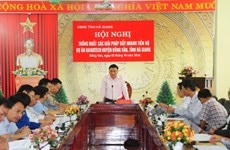 Conference on water project in Ha Giang