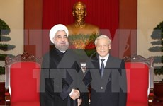 Party leader meets with Iranian President
