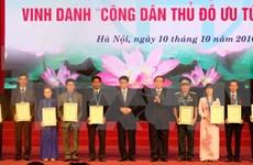 Hanoi honours outstanding locals