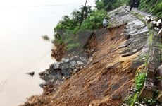 Landslides in Quang Binh shut down North-South railway