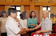 [Video] Party leader meets Hanoi constituents