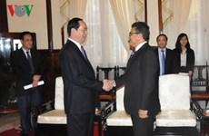 President receives Palestinian ambassador