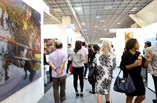 Vietnamese lacquer paintings present at Malaysia Art Expo