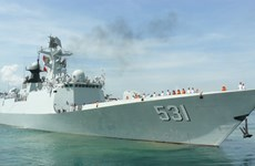 Chinese naval ships visit Cam Ranh int'l port