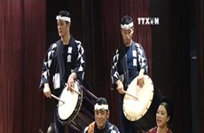 Japan percussion group joins folk music programme
