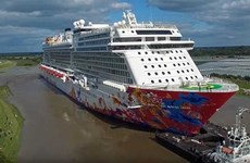 Luxury cruise ship brings visitors to central destinations