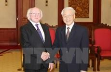 Leaders welcome Irish President
