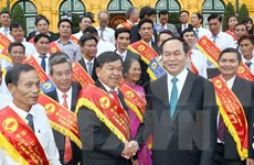 President impressed with farmers' inventions