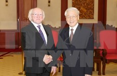 Irish President wraps up State visit to Vietnam
