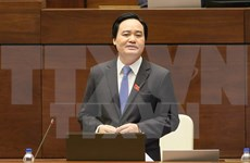 Education minister questioned at NA