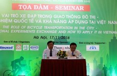 Hanoi hosts seminar on bicycles in city