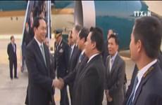 President arrives in Peru for APEC week