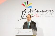 Vietnamese President attends Francophone Summit