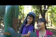 Gia Lai promotes folk wooden sculptures