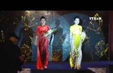 Space dedicated to promoting traditional Ao dai