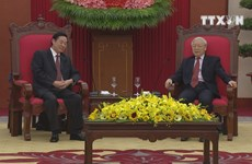 Party leader welcomes Chinese senior official