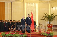Official: Party chief's China visit ends successfully