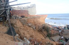 Severe erosion threatens central coastal province
