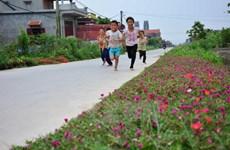 Flowers brighten up countryside street