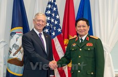 Activities during Defence Minister Ngo Xuan Lich's visit to US
