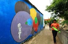 Mural artworks on An Binh island