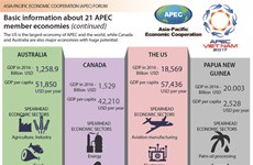 Basic information about 21 APEC member economies (continued)