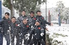 U23 Vietnam play in snow ahead of AFC championship final