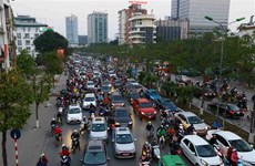 Hanoi suffers traffic jams ahead of Tet