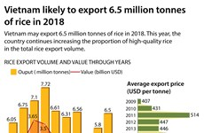 Vietnam likely to export 6.5 million tonnes of rice in 2018