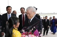 Party leader starts France visit