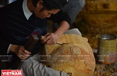 The art of making wooden fish in Hue