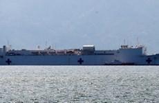 US hospital ship docks in Nha Trang, begins humanitarian programme