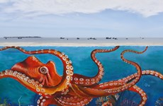 Mural paintings convey message of safeguarding sea