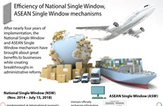 Efficiency of National Single Window, ASEAN Single Window mechanisms