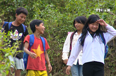 Road to school for students in remote mountain areas