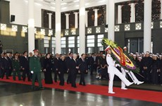 CPV delegation pays respect to former Party leader