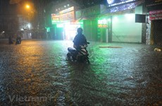 Ho Chi Minh City seriously flooded due to storm Usagi