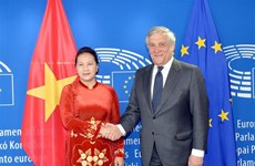National Assembly Chairwoman Ngan holds talks with EP President