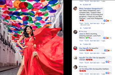 Vietnamese beauty among top six of int'l beauty pageant