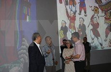 New technology brings Hang Trong paintings closer to young viewers