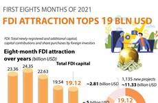 FDI attraction in eight months tops 19 billion USD