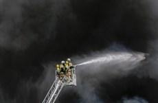 Vietnamese market in Berlin catches fire