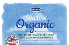Vinamilk's organic products meet US standards