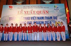 First Vietnamese athletes depart for Olympics