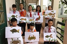 Secondary students display art in Hanoi, London