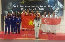 Fencers win gold, silver medals at regional champs