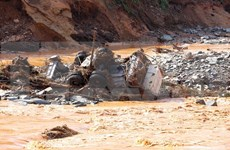 Quang Nam searches for missing people in hydropower dam break